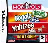 Hasbro Compilation Monopoly Boggle Yahtzee Battleships