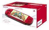 Sony PSP 3000 Series Slim and Lite Handheld Console Red