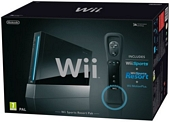 Nintendo Wii Console Black with Wii Sports Wii Sports Resort and Motion Plus Controller