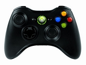 Black official Xbox 360 wireless controller with receiver for PC windows use
