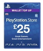 Sony PlayStation Network Card GBP25 PlayStation Vita PS3