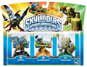 Skylanders Spyros Adventure Triple Character Pack Drobot Stump Smash and Flameslinger Wii PS3 Xbox 360 PC