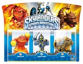 Skylanders Spyros Adventure Triple Character Pack Chop Chop Bash and Eruptor Wii PS3 Xbox 360 PC