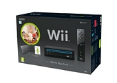 Nintendo Wii Console Black with Wii Fit Plus Includes Balance Board and Wii Remote Plus