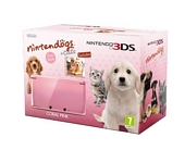Nintendo Handheld Console 3DS Coral Pink Bundle with Nintendogs and Cats Golden Retriever