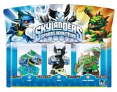 Skylanders Spyros Adventure Triple Character Pack Hex Zap and Dinorang Wii PS3 Xbox 360 PC