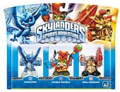 Skylanders Spyros Adventure Triple Character Pack Double Trouble Whirlwind and Drill Sergeant Wii PS3 Xbox 360 PC