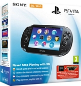 Sony PlayStation Vita WiFi 3G Console with Motorstorm RC Voucher and 4GB Memory Card