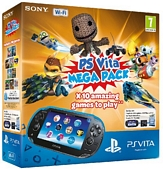 Sony PS Vita WiFi Console with 10 game Mega Pack on 8GB Memory Card