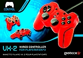 Gioteck VX-2 Wired Controller - Red (PS3/PC)
