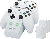 Venom Xbox One Twin Docking Station with 2 x Rechargeable Battery Packs White